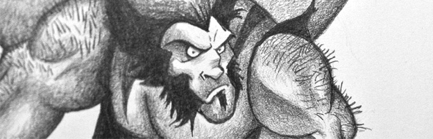 Drawing of Havok and Wolverin by Dave Mottram