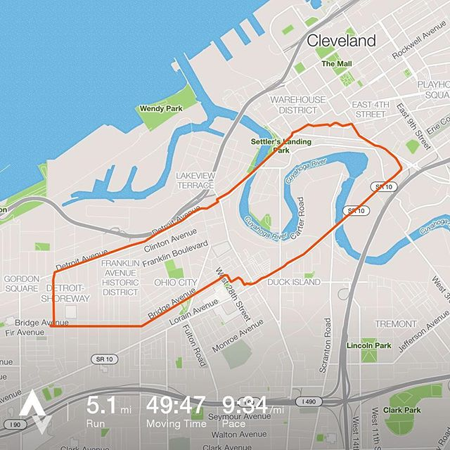 Fleeing Godzilla with Detroit Shoreway Run Club!!! - from Instagram