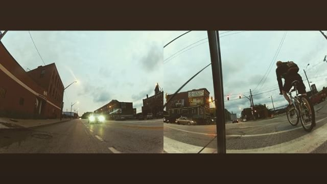 Experimentation with a second action cam. #gopro #goprohero2 #dawnpatrol #bikecommute - from Instagram