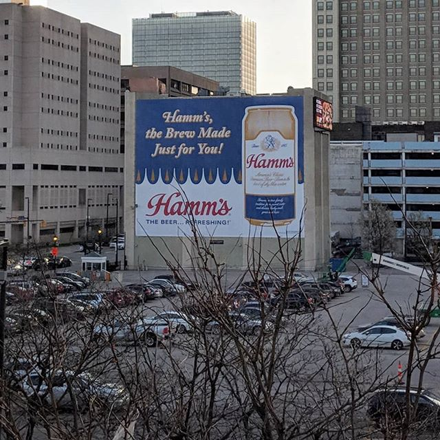So much weird about this new billboard facing my office. People still drink Hamm's? - from Instagram